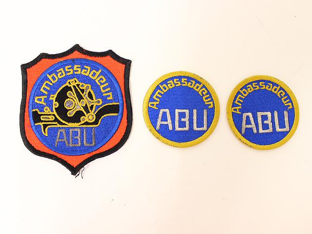 ABU アンバサダー ワッペン 3個